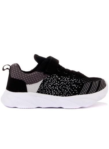 Cool 20-S10 Siyah Erkek Çocuk Fileli Günlük Spor Ayakkabı Siyah
